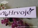 Auto tablica za vjenčanje TIP 4