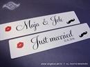 Tablice za vjenčani automobil