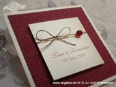 Pozivnica za vjenčanje Royal Trendy Red