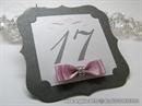 Broj stola za svadbenu svečanost - Dark Silver Frame