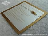 brončana pozivnica s perlicama