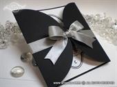 Pozivnica za vjenčanje Silver Bow Diva