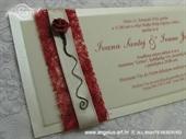 Pozivnica za vjenčanje Red Rose Harmony
