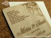 Pozivnica za vjenčanje Drvena pozivnica - cvijet