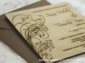 Pozivnica za vjenčanje Drvena pozivnica - moderna frčka