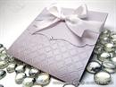 Pozivnica za vjenčanje u lila bijelim tonovima