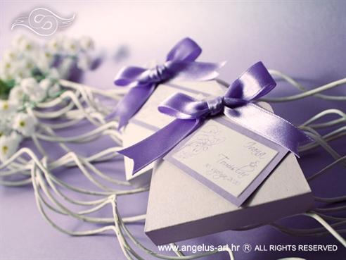 konfet za vjenčanje lavanda u vrećici s mašnicom
