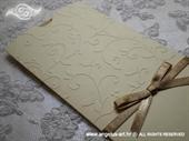 Pozivnica za vjenčanje Charm Cream Gold
