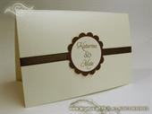 Pozivnica za vjenčanje Brown Sunshine