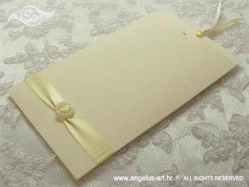 krem pozivnica za vjenčanje sa srcem na izvlačenje