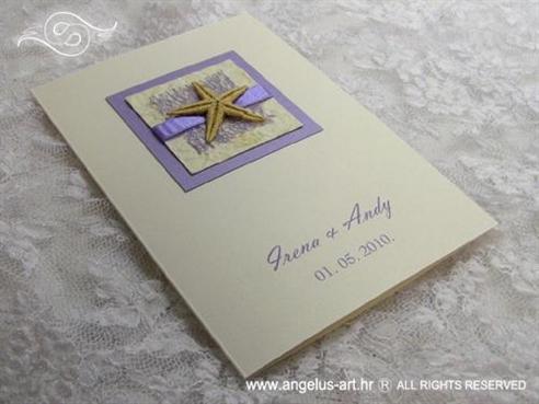krem zahvalnica s morskom zvijezdom i ljubičastom mrežom