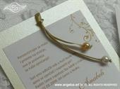 Pozivnica za vjenčanje Charm Pearl Gold