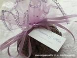 lavanda za vjenčanje u lila organdij vrećici s cirkonima