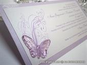 Pozivnica za vjenčanje Leptirov let - lila