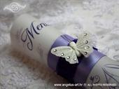 Menu za vjenčanje - Bijeli leptir