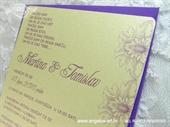 Pozivnica za vjenčanje Lilac Flowers Line