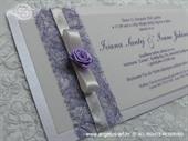 Pozivnica za vjenčanje Harmony Lila ruža