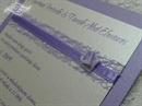 Pozivnica Purple Fairy Tale