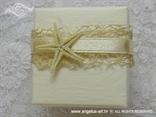 morska zvijezda na konfetu za vjenčanje s natural mrežom