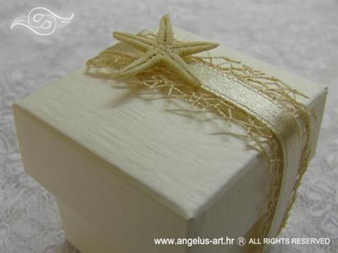 morski konfet za vjenčanje s morskom zvijezdom i mrežom
