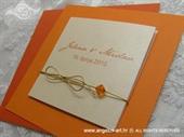 Pozivnica za vjenčanje Orange Trendy