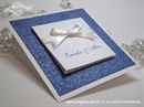 Pozivnica za vjenčanje Royal Blue Trendy