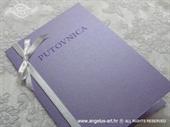 Pozivnica za vjenčanje Putovnica lila