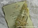 Pozivnica za vjenčanje Poruka u boci - Morski svitak