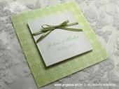 Pozivnica za vjenčanje Trendy Zelena mašna