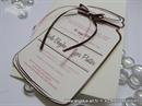 Pozivnica za vjenčanje - Pinky Brown  Bottle
