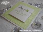 Pozivnica za vjenčanje Royal Trendy Green