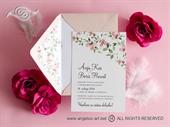 Pozivnica za vjenčanje - Romantic Flower Line