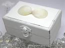 Jastučić za vjenčano prstenje Škrinjica morska bijela