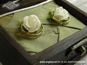 Jastučić za prstenje Škrinjica Green elegance