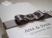 Pozivnica za vjenčanje Silver Heart Charm