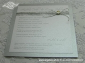 Pozivnica za vjenčanje Sea Silver Fairy Tale