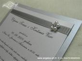 Pozivnica za vjenčanje Silver Pearl Fairy Tale