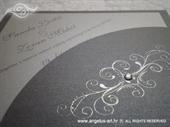 Pozivnica za vjenčanje Diamond Silver Swirl