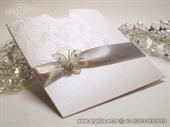 Pozivnica za vjenčanje Silver Butterfly Charm 2