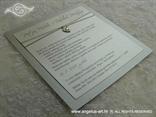 srebrna pozivnica za vjenčanje s privjeskom