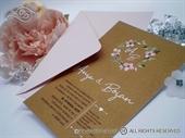 Pozivnica za vjenčanje - Natur Romantic Flower Line