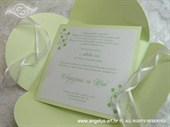Pozivnica za vjenčanje Pearl Green Beauty