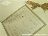 Pozivnica za vjenčanje Crystal Gold Beauty