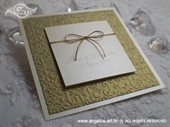 Pozivnica za vjenčanje Royal Trendy Gold